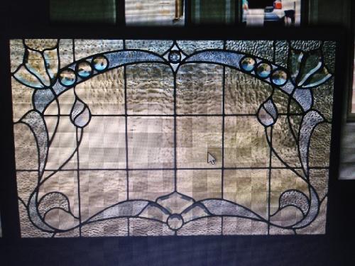 Leadlight glass for elegant door features or windows
