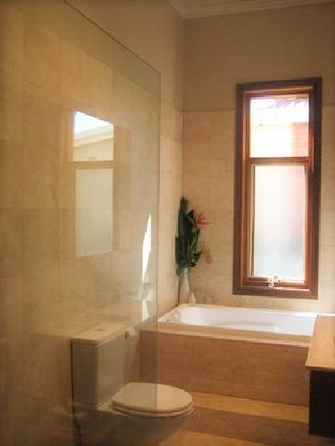 Bathroom mirrors, showers and privacy windows